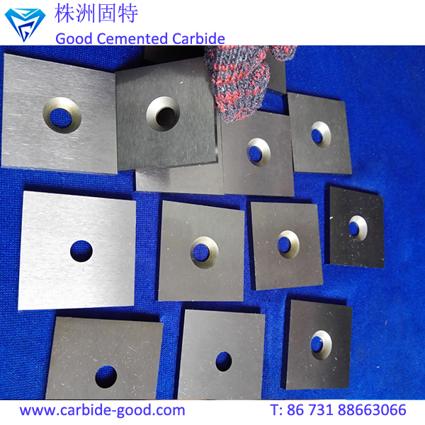 High Precision Cemented Carbide Square Tipped Inserts Plate with Hole