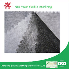100% polyester thermal bonded nonwoven factory price non woven fusible interlining