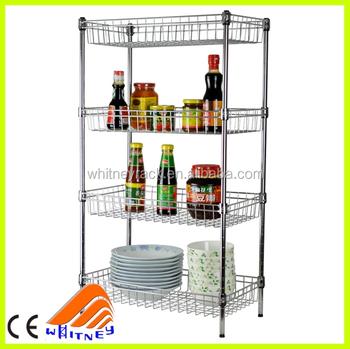 Kitchen metal rack kitchen stand kitchen shelf buy for Scaffalature metalliche leroy merlin