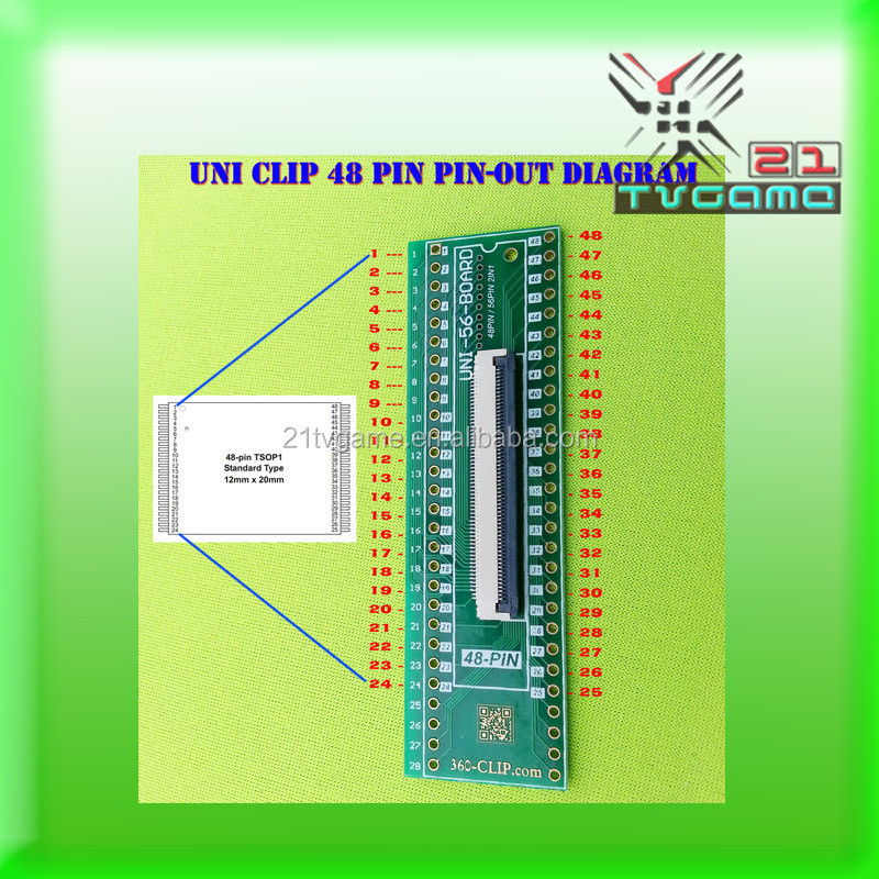 New Original 48pin universal 360 clip tsop nand flasher for ps3/xbox 360