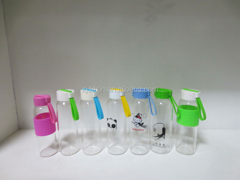 BPA free Eco friendly wholesale sexy glass drinking bottles with a lid