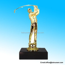 Polyresin Male Golf Figure on Marble Base Trophy
