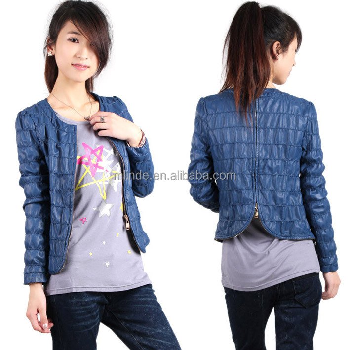 blue simple smart casual jacket design for woman, jacket woman