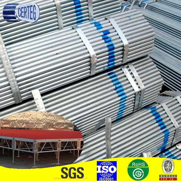 Common Carbon Welded Galvanized Round Stage Truss Steel Pipe
