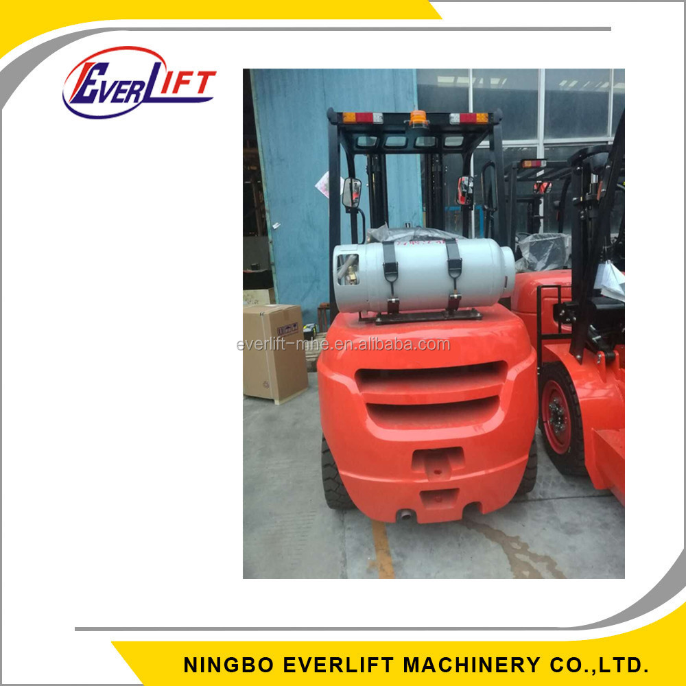 1.5 ton 2.5 ton 3 ton 3.5 ton 3m 5 m 3 stage triple mast gasoline forklift LPG forklift with sideshift and solid tyre