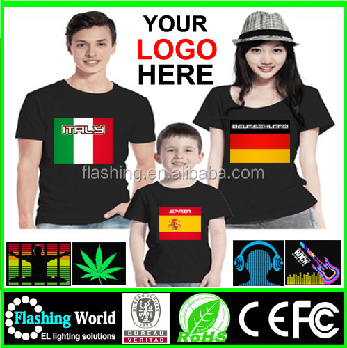 Hot selling High quality LED Tshirt / sound sensor light for t shirt/LED sound sensor music light tshirt