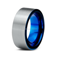 blue plated men ring tungsten carbide