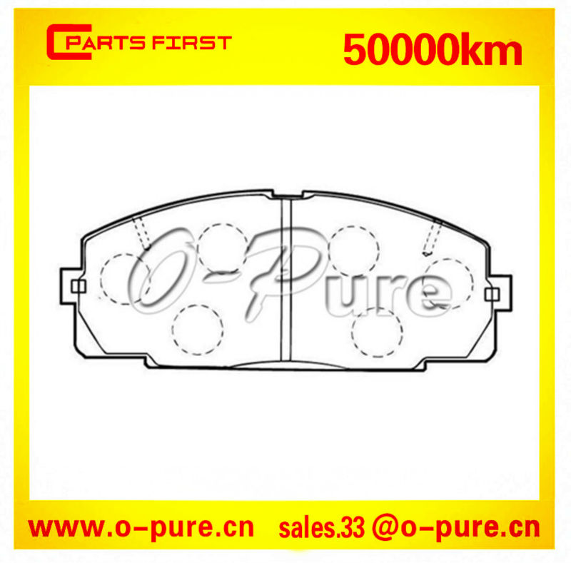 Toyota car parts wholesale for Hiace Wagon o-pure semi-metal brake pad OE 04465-25040 good quality best price