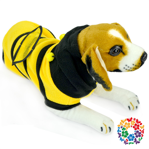 The bee style dog clothing yellow and black stripe pet clothes small dog clothes made in China