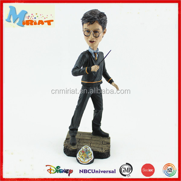 Famous character plastic harry potter bobble heads action figure
