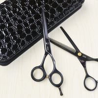 "Professional Hair Cutting Scissors one piece 5.5"" Set Cutting Scissors and thinning Scissors Case"
