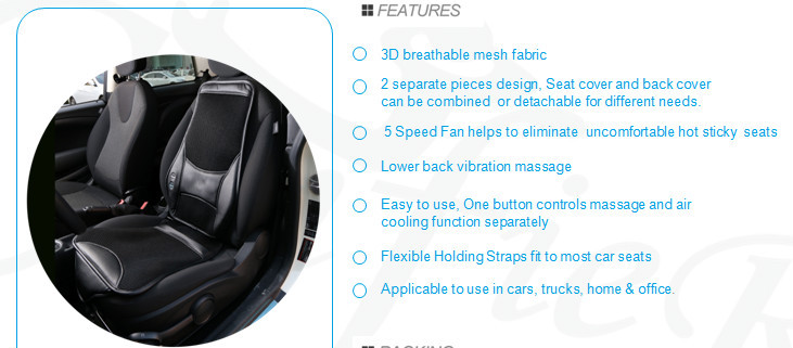 3D Cooling cushion with massage