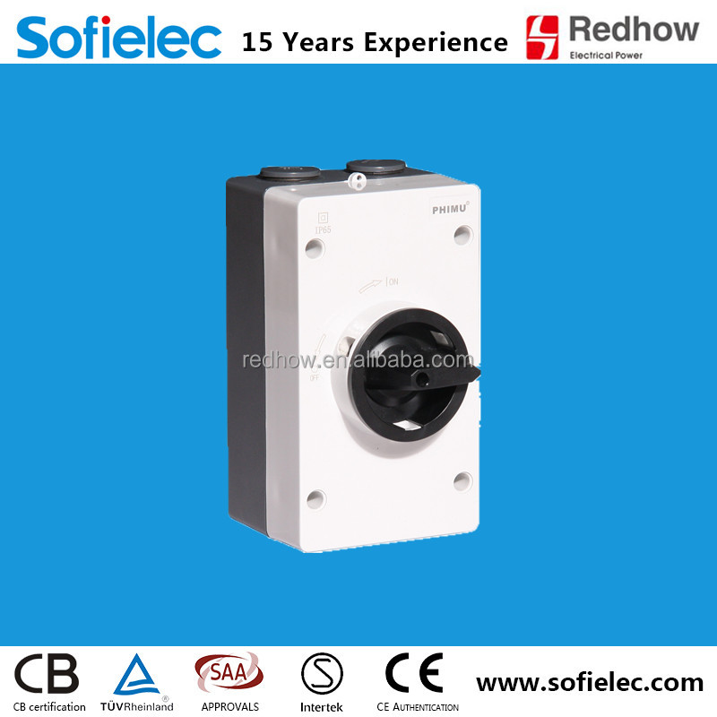 SAA approved screw type DC isolator switch 20A SGN4-03GL