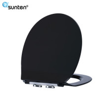 Urea Material Ultra Slim Oval Shape Black European Ceramic Toilet Seat Covers Price