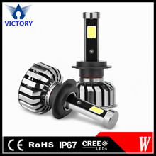 2017 New canbus H7 Led headlight super bright 4000LM auto car parts replace Xenon hid kits factory cheap