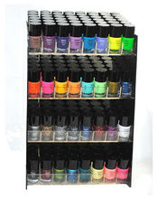 Emori (TM) 32 Piece Vibrant Color Nail Lacquer (Glitter, Metallic, Neon,bottles Nail Polish) Combo Set Display Stand