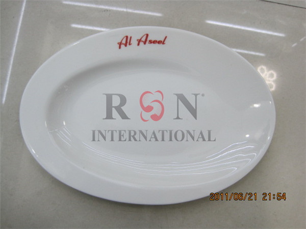 Wholesale Ceramic White Dinner Plate Oval Porcelain Plate Egg Tray
