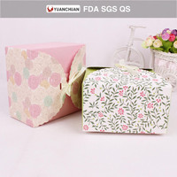Rigid paper packaging box from bakery food
