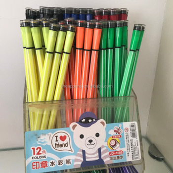 assorted colors stripe kids marker slim seal pen tip color pen