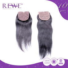 Good-Looking Lowest Cost Guarantee 2 Years Lace Indian Unprocessed Toupee Silk Injected Closure Closures