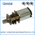 6V,geared brushed motor with12mm DC motor