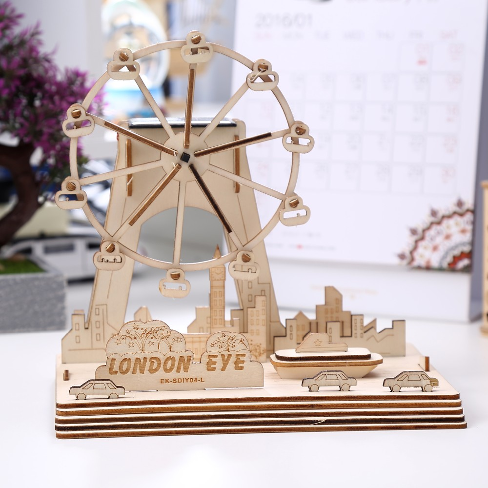 DIY Toy Wooden Puzzle London Eye Building 3D Jigsaw Puzzle For Sale