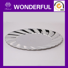 EH-03 disposalbe plastic oval tray in silver color