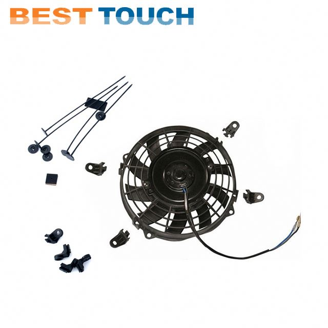 Landcruiser 80 Series HZJ80 HDJ80 1990-1998 AT bus parts <strong>12</strong>'' inch a/<strong>c</strong> condenser fan motor for LAND CRUISER