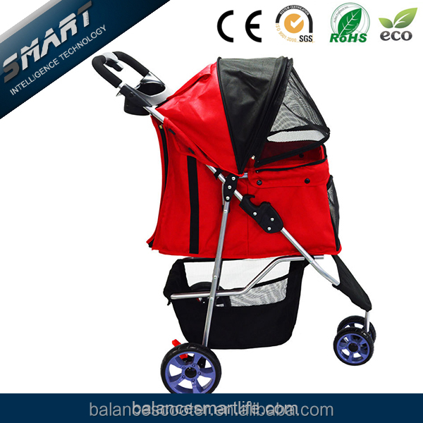 Hot sales waterproof car cover collapsible dog stroller, dog show trolley