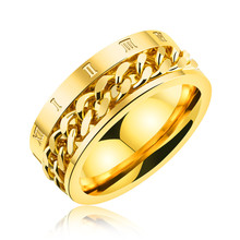 Latest Dubai Gold Ring Designs Woven Gold Ring Without Stones Stainless Steel Men Jewelry