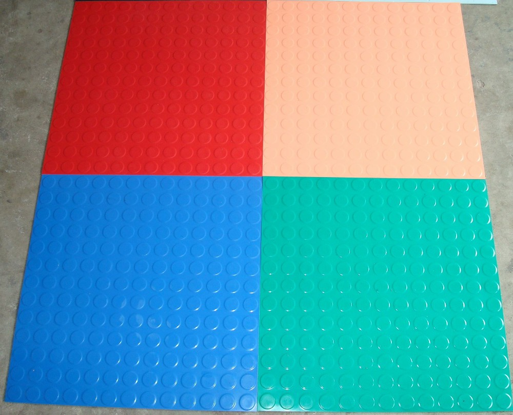 QU High quality non-slip wear round floating color rubber floor board of balata floor airport hotel