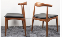 2015 hot sale Replica OX Horn Dining Room Wood Chair, Walnut Hans Wegner Dining Chair/YJ-168