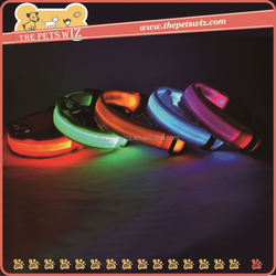 Luminous pet pendant ,CC010 double line dog collar , chargable usb led luminous dog collar make your pets