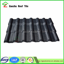 2.5mm plastic foshan roofing pvc tile/ ASA PVC synthetic resin roof tile made in China