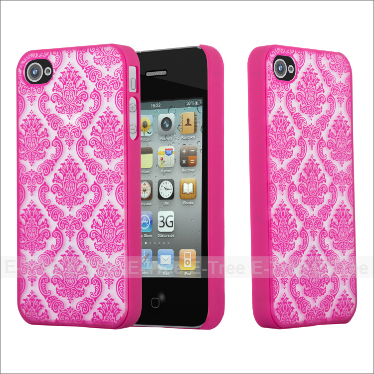 New hard shiny PC plastic back cover palace pattern shockproof case for iphone 4/galaxy s6 edge/A3