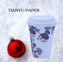 Warm winter custom made packed corrugated coffee paper cups