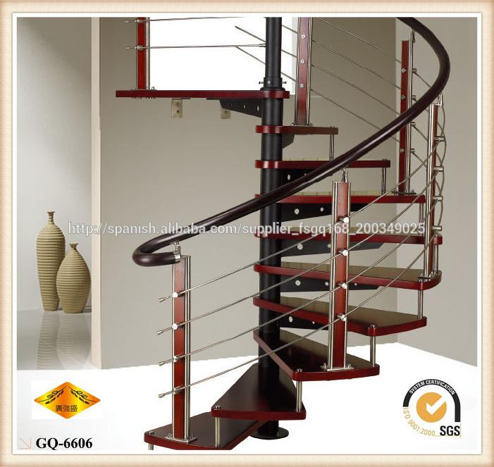 Barandillas de acero inoxidable para escalera de madera de - Barandillas de escaleras ...