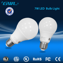 Factory wholesale 110v 220v e27 led light bulb 7w equal to 14w cfl 60w incandescent