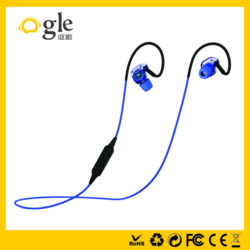 OEM sport relax safety high quality hooked wireless bluetooth stereo headset