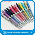 20 Colors Available Multifunctional Metal Crystal Touch Pen
