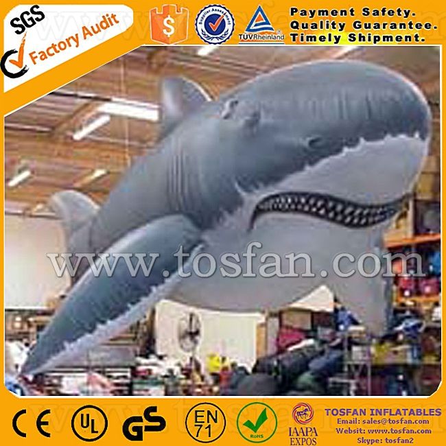 customized balloon giant inflatable shark helium gas balloon F2024