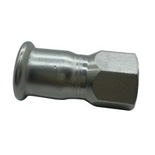 M Profile Stainless Steel Press Fitting Female Threaded Adapter Coupling