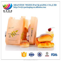 new products healthy foods plastic kraft paper bag for bread packaging bag