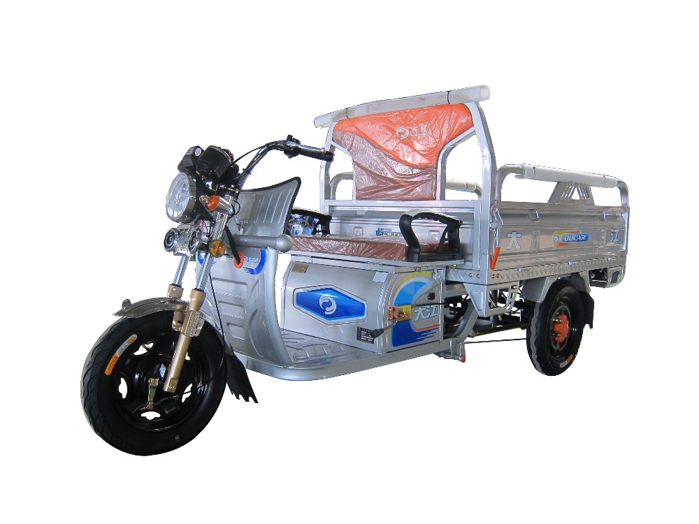 China Ducar JinMa no.1 middle size 48V650W electric tricycle tuk tuk with diffrencial motor for cargo