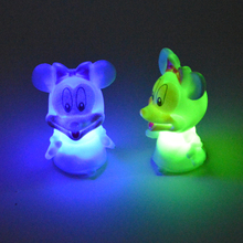 2016 new style flashing toy PVC LED mickey mouse night light of decoration