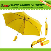 YOULE Corporate Giveaways Creative 3-Folding Portable Banana Umbrella