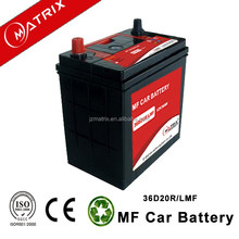 Matrix 12V 36AH 36b20r mf car auto battery wholesale