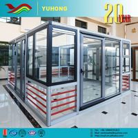 Hot sale top quality grill design low-E lock automatic sliding glass door