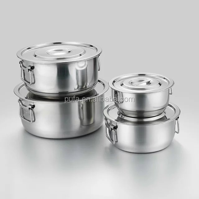 stainless steel mixing pot set stainless steel mixing bowl cook pot set