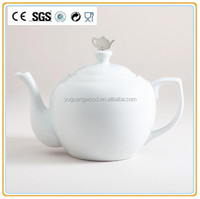White ceramic teapot earthware / Porcelain teaset and coffee pot manufacture